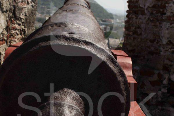 Cañon castillo de San Felipe en Cartagena