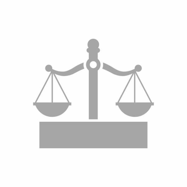 icono de justicia en producción y creatividad