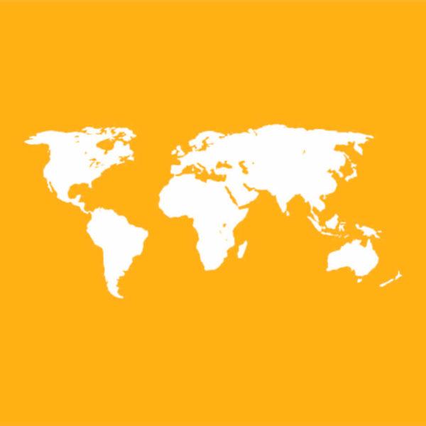 mapa del mundo y cobertura de el sotano
