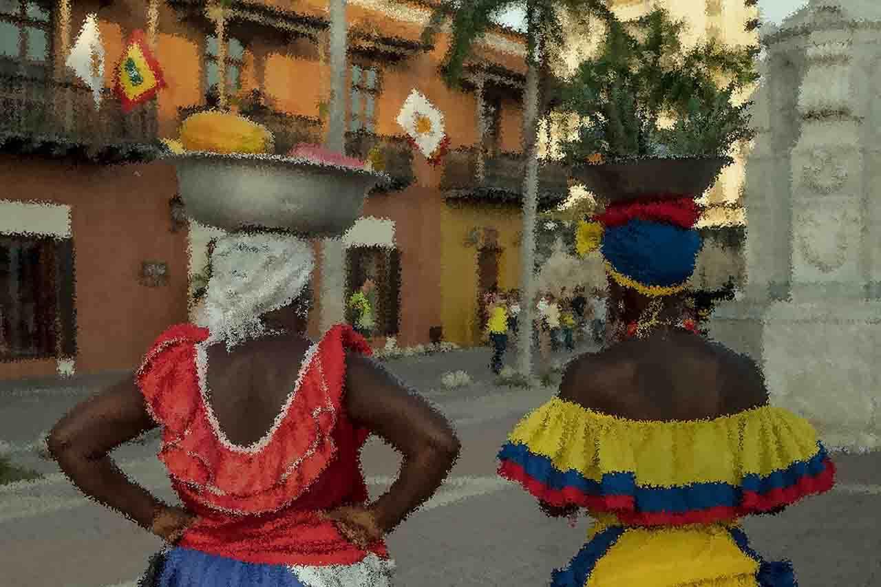 imagen del stock de vendedoras de colombia